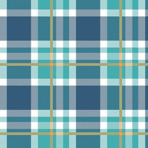 Blue and Orange Plaid V.07
