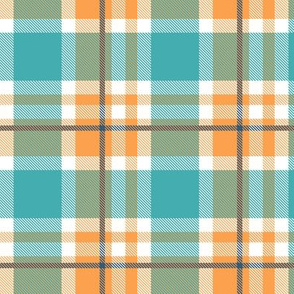 Blue and Orange Plaid V.08