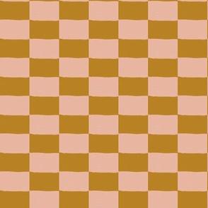 checks - golden dusty blush