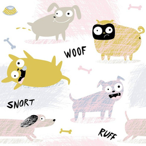 Pastel Scribble dogs by Mount Vic and Me