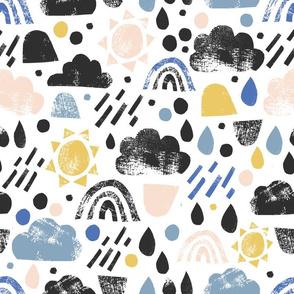 rain cloud cut outs - large scale