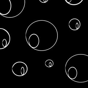 WHITE CIRCLES ON BLACK PATTERN