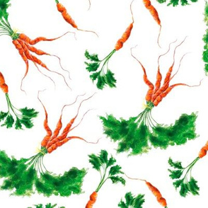 Watercolor hand drawn  vegetable garden pattern design