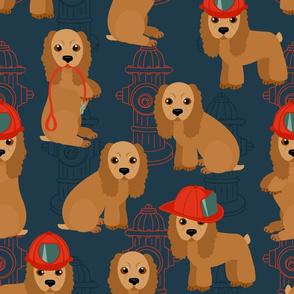 Cocker Spaniel - Fireman Dogs