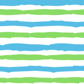 Paper Straws in Blue Tide & Bright Green Horizontal