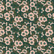Flowers limited color palette