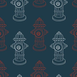 Fire Hydrants - Blue