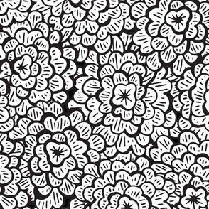 Whimsical Floral - White