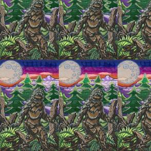 sasquatch under the moon