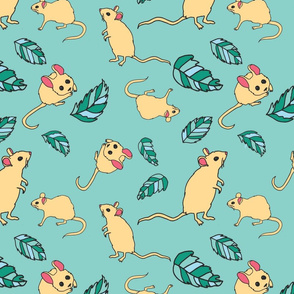 Sweet mouse green background