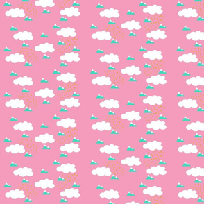baby nursery clouds Pink