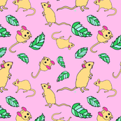 Sweet mouse pink background