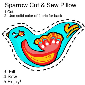 The Sparrow Cut & Sew Pillow