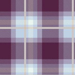 Purple and Magenta Plaid V.01