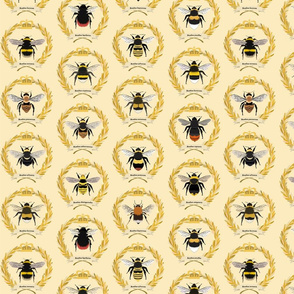 Bumblebees on Yellow - large scale bees