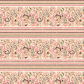 Rose Flourishes and Stripes