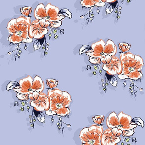 Watercolor Dog-Roses with buds seamless pattern background.