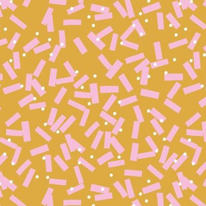 Minimal birthday paper confetti party abstract cut out stripes fall summer ochre pink