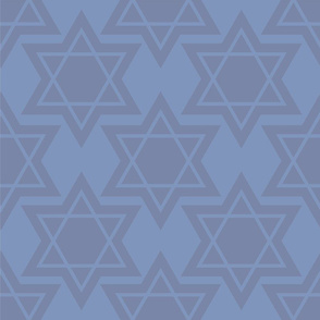 Large Star of David textured pattern