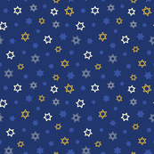 Star of David Pattern Mix on Dark Blue