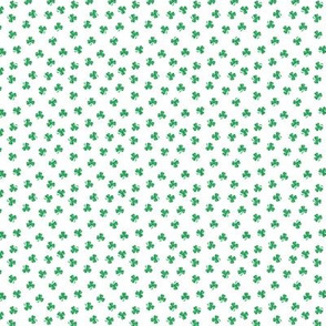 Polka Dot Shamrocks Tiny White