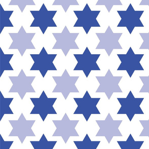 Simple Blue Star of David on a white background