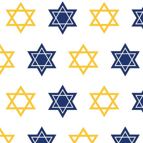 Star of David on white background