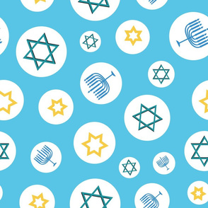 Hanukkah Mix on light blue background