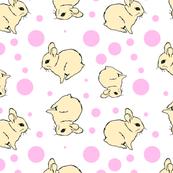 tan bunny polkadot