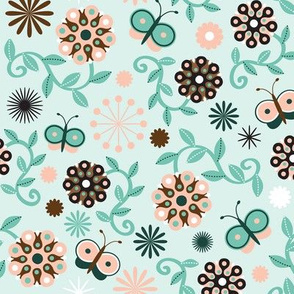 Abstract Flower Coordinate, light background