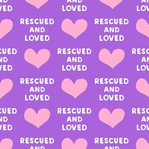 rescued and loved - purple  and pink - LAD19