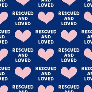 rescued and loved - blue and pink - LAD19