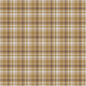 Golden Brown and Gray Tartan