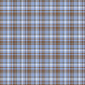 Blue, Brown and Gray Tartan