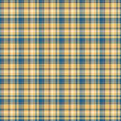 Blue, Mustard yellow and Gray, Tartan