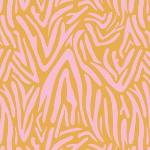 Minimal zebra wild life lovers abstract animal print monochrome trend ochre yellow pink