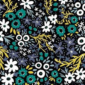 Wilderness Wildflowers (Black)
