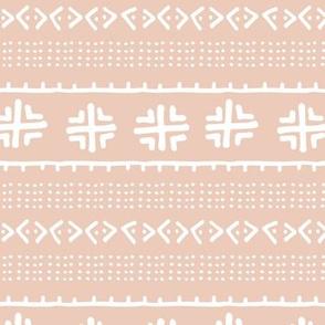 Tribal Mud Cloth // Peach