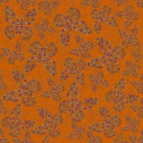 Butterfly wings on Orange