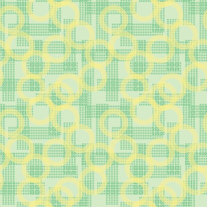 Green and Yellow Seamless Background Pattern