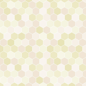 Pastel Yellow Hexagon Hive Seamless Repeat Pattern