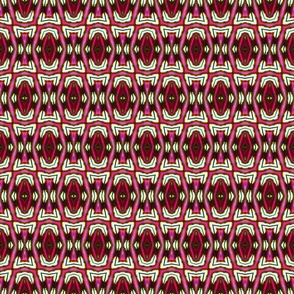 Red Geometric Blocks