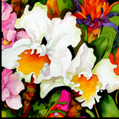Tropical Orchids Large Scale