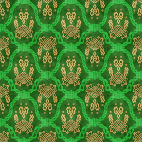 Knot more pawprints - Green Celtic dog paws