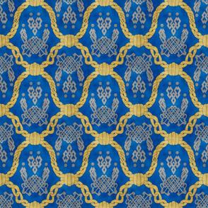 Knot more pawprints - Royal Blue dog paws