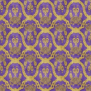 Knot more pawprints - Royal Purple dog paws