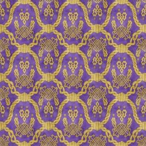 Knot more pawprints - Royal Purple dog paws