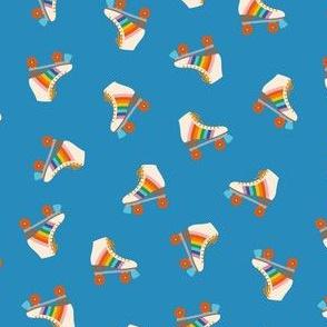 Rainbow Rollerskate Toss - Blue