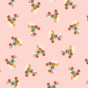 Rainbow Rollerkate Toss - Soft Pink