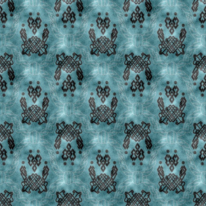 Knot more pawprints - Deep Aqua dog paws
